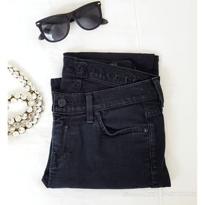 7 FOR ALL MANKIND | Black Straight Leg Jeans
